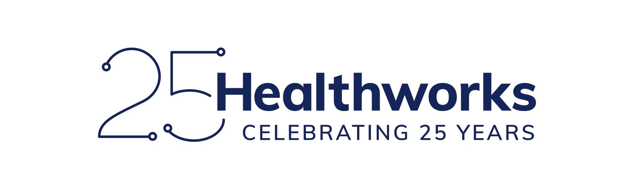 Healthworks - Celebrating 25 Years logo